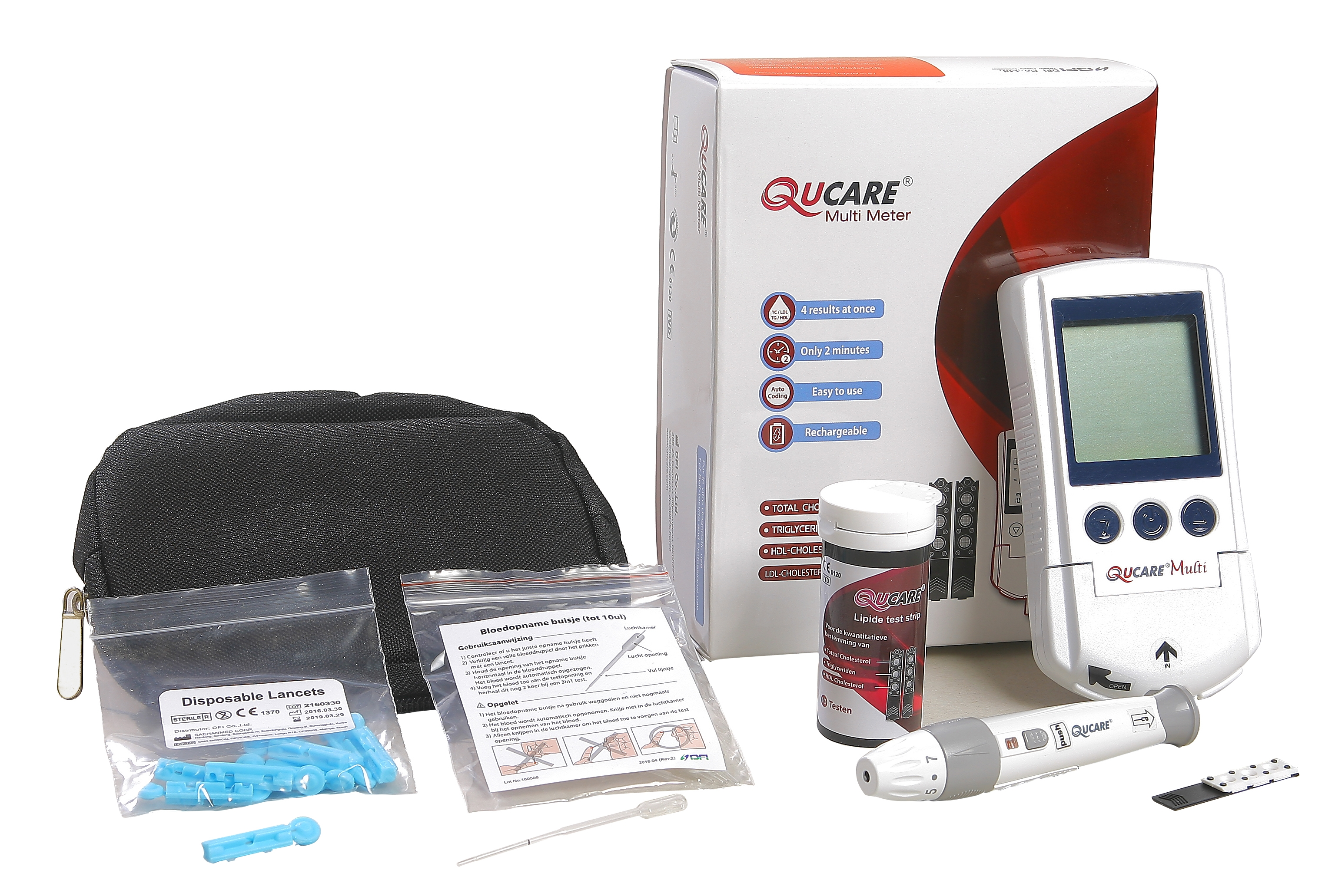 Qucare 3in1 Cholesterolmeter