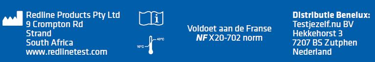 Verklaring dat deze test voldoet aan de NF X20 702 norm